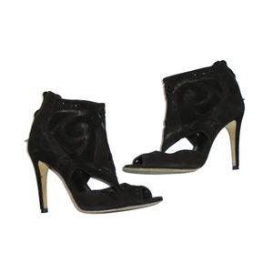 Sigerson Morrison Cut Out High Heels Black 8.5